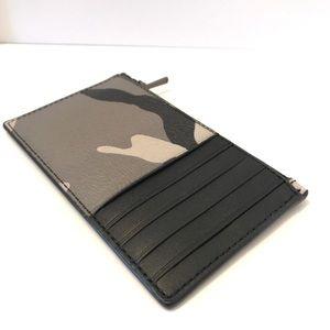 Coach men's zip card case wallet
